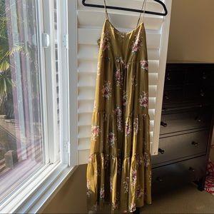 Tier Cami Midi Dress in Metallic Classic Corsage
